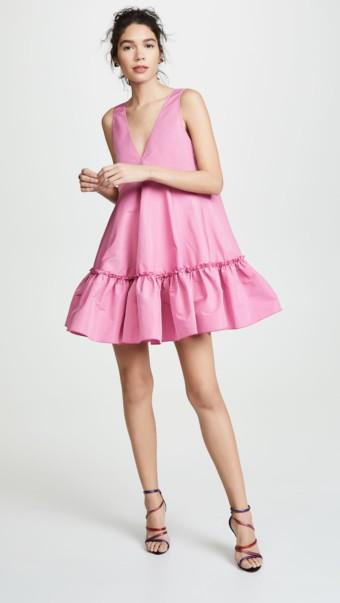 No. 21 V Neck Mini Pink Dress