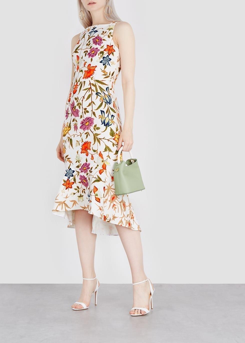PETER PILOTTO Kia White / Floral Printed Dress