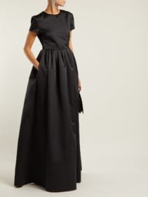 ROCHAS Duchess Satin Black Gown