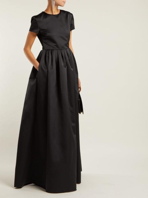 ROCHAS Duchess Satin Black Gown