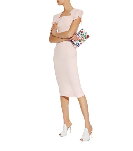 ROLAND MOURET Royston Pencil Pink Dress