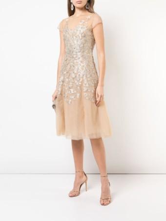 SACHIN & BABI Richa Gold Dress