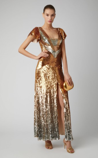 TEMPERLEY LONDON Exclusive Ruth Sequin Gold Gown