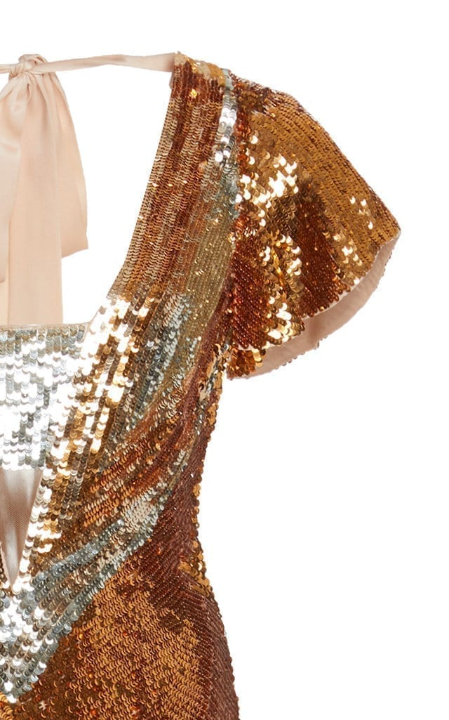 d6e0292737c TEMPERLEY LONDON Exclusive Ruth Sequin Gold Gown - We Select Dresses