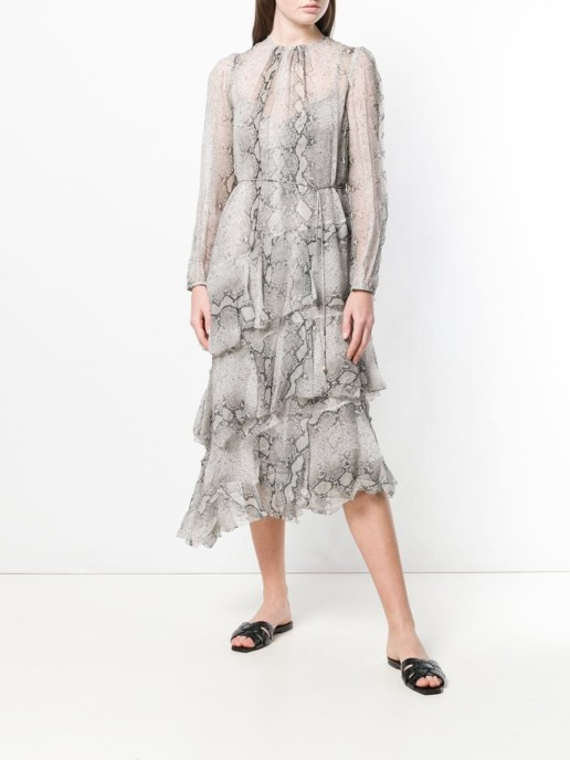 ZIMMERMANN Asymmetric Grey Dress