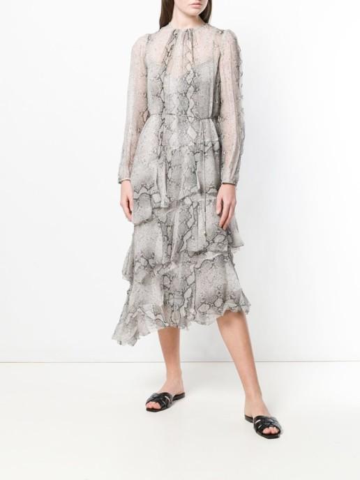 ZIMMERMANN Asymmetric Grey Dress
