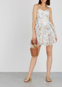 ZIMMERMANN Bowie Printed Broderie Anglaise Multicoloured Dress