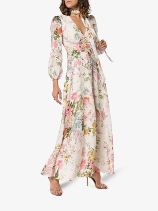 ZIMMERMANN Heather Garden Maxi Cream / Floral Printed Dress