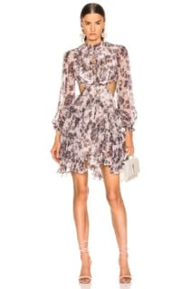 ZIMMERMANN Juno Floating White / Printed Dress