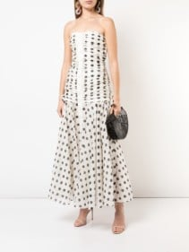 ZIMMERMANN Ruched Off-Shoulder White Dress