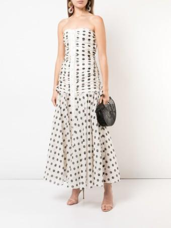 ZIMMERMANN Ruched Off-Shoulder White Dress