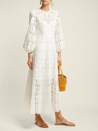 ZIMMERMANN Wayfarer Crochet-lace Maxi White Dress