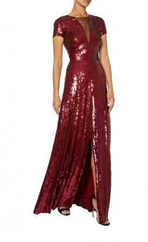 TEMPERLEY LONDON Ray Sequin Vermilion Gown