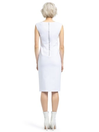 ALICE AND OLIVIA Jordan Fitted Mini White Dress