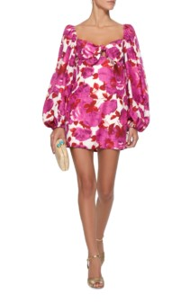 ALICE MCCALL Lover To Lover Printed Mini White Dress