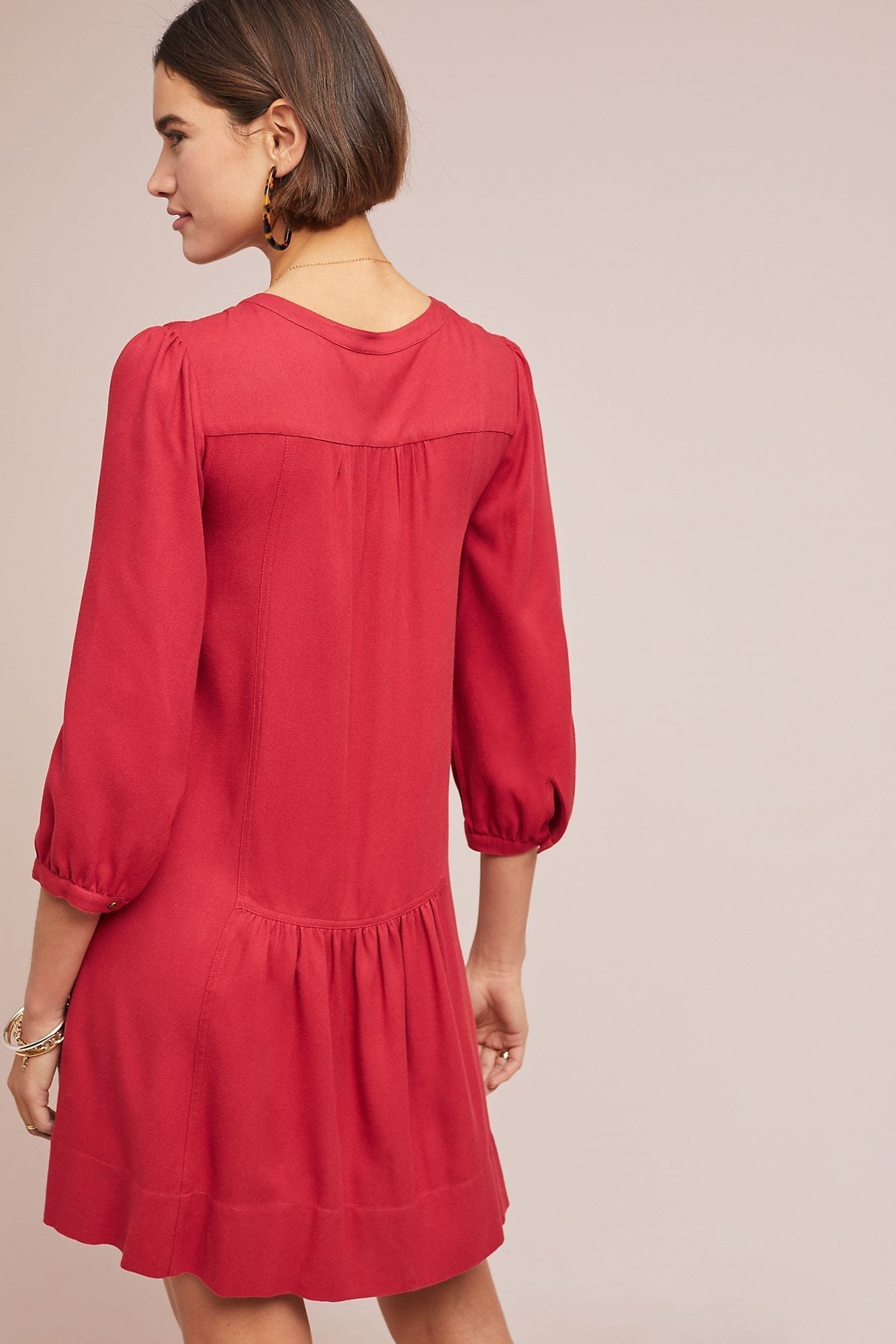 b4f8b1b9f82c ANTHROPOLOGIE Dubois Embroidered Tunic Rose Dress - We Select Dresses