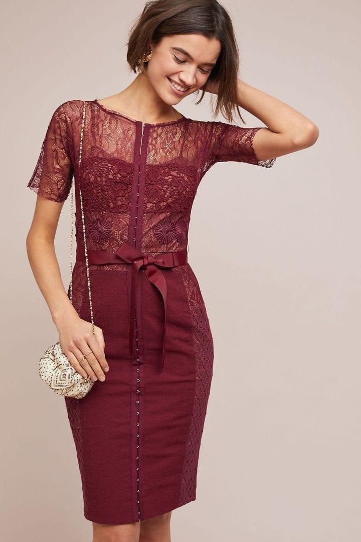 667be72e57c0 BYRON LARS Carissima Sheath Wine Dress - We Select Dresses