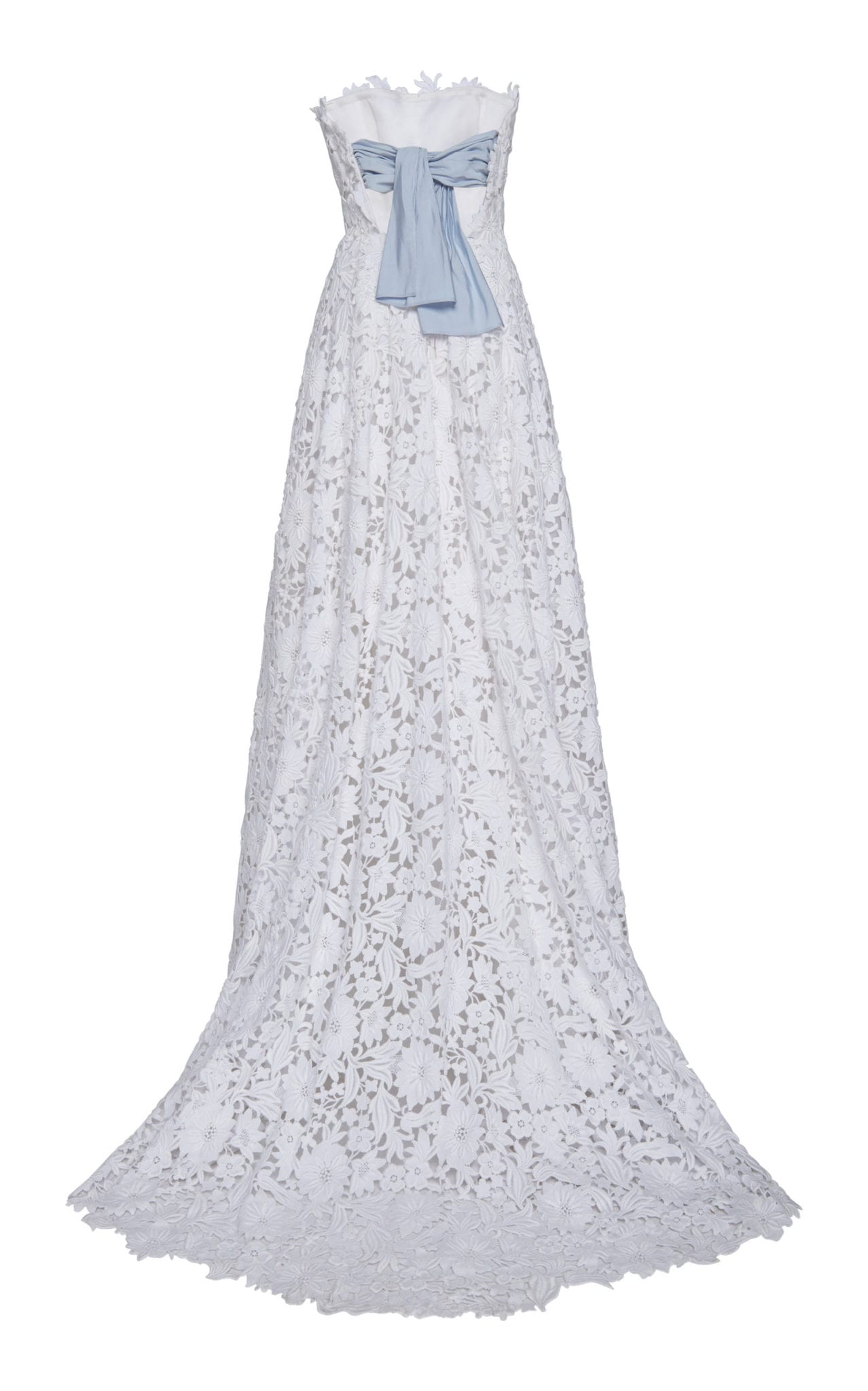 Carolina Herrera Bridal Gertrude Lace Strapless White Gown