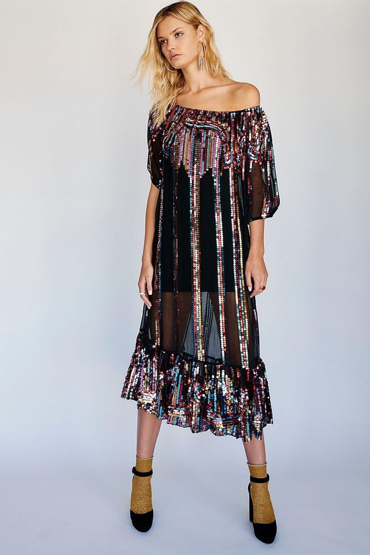 CAROLINA K Does Charo Black Dress