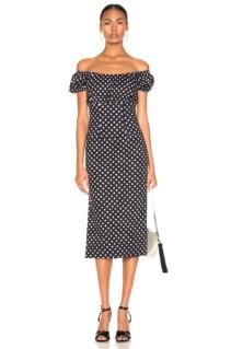 CAROLINE CONSTAS Calla Black / White Dress