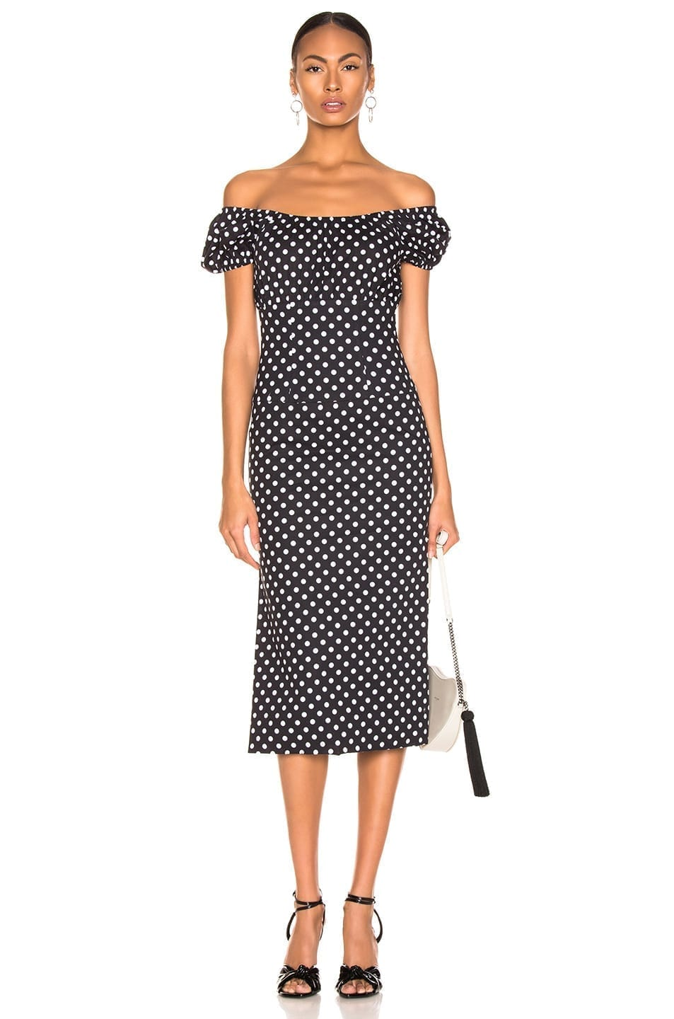 CAROLINE CONSTAS Calla Black / White Dress