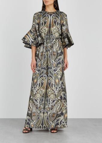 CHLOÉ Paisley Silk-blend Jacquard Black Dress