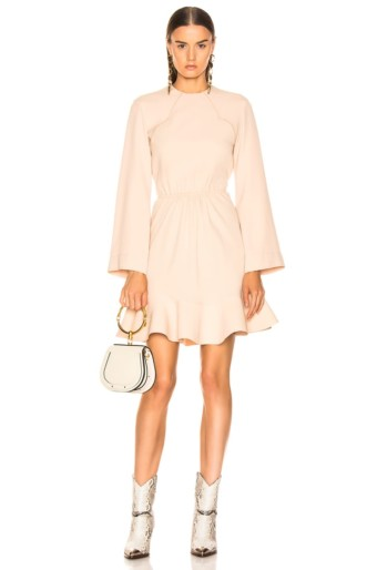 CHLOE Long Sleeve Macadamia Brown Dress