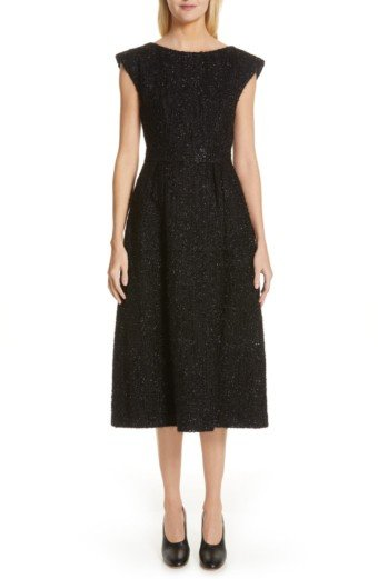 CO Metallic Tweed Black Dress