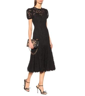 DOLCE & GABBANA Lace Black Dress