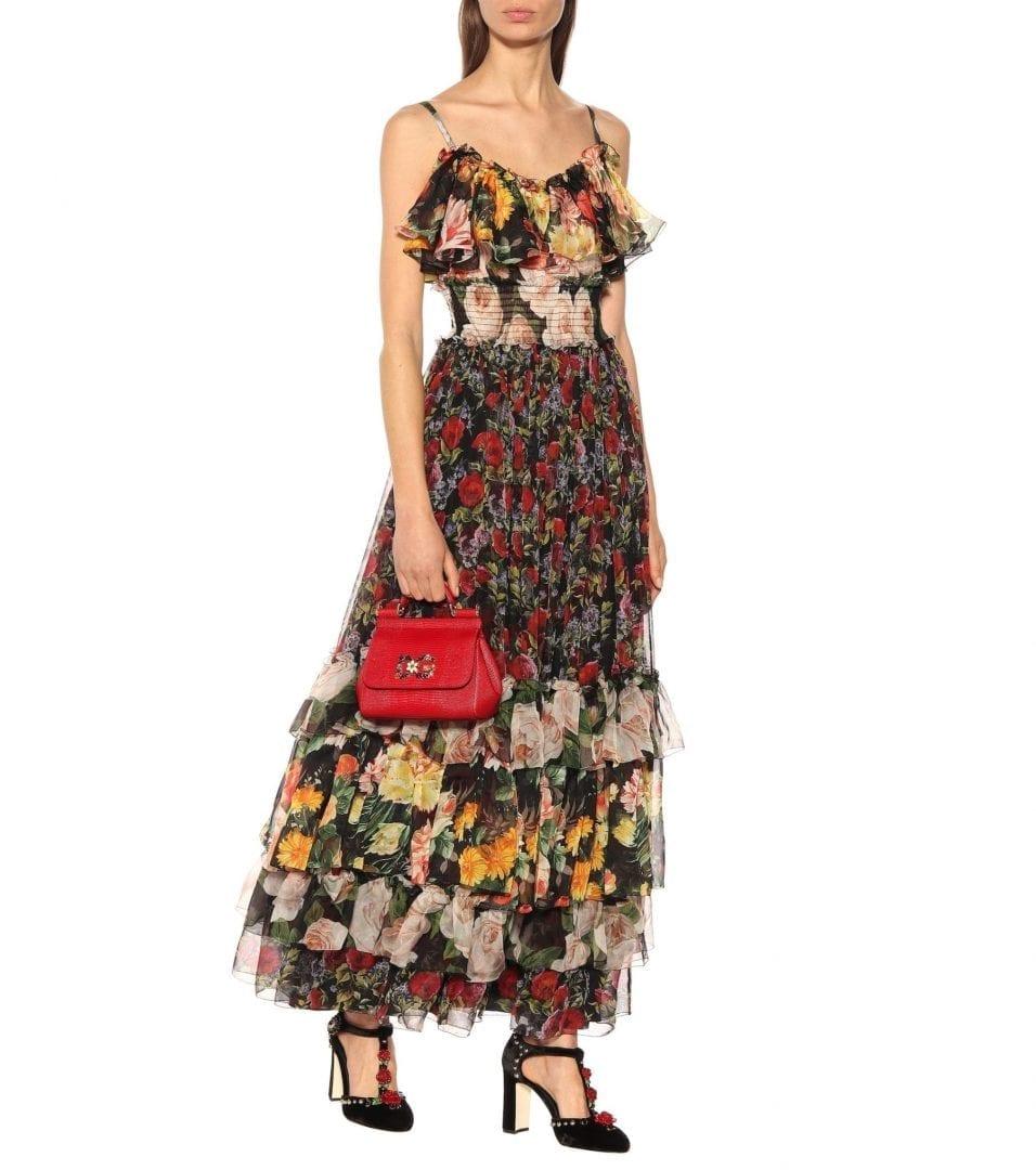 166c43af06 DOLCE   GABBANA Silk Chiffon Floral Printed Dress - We Select Dresses