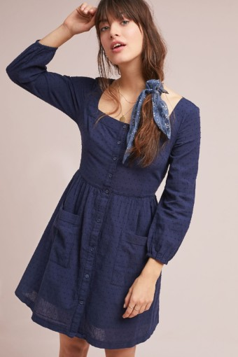 FOLK BY HANSEL FROM BASEL Shiloh Tunic Navy Dress