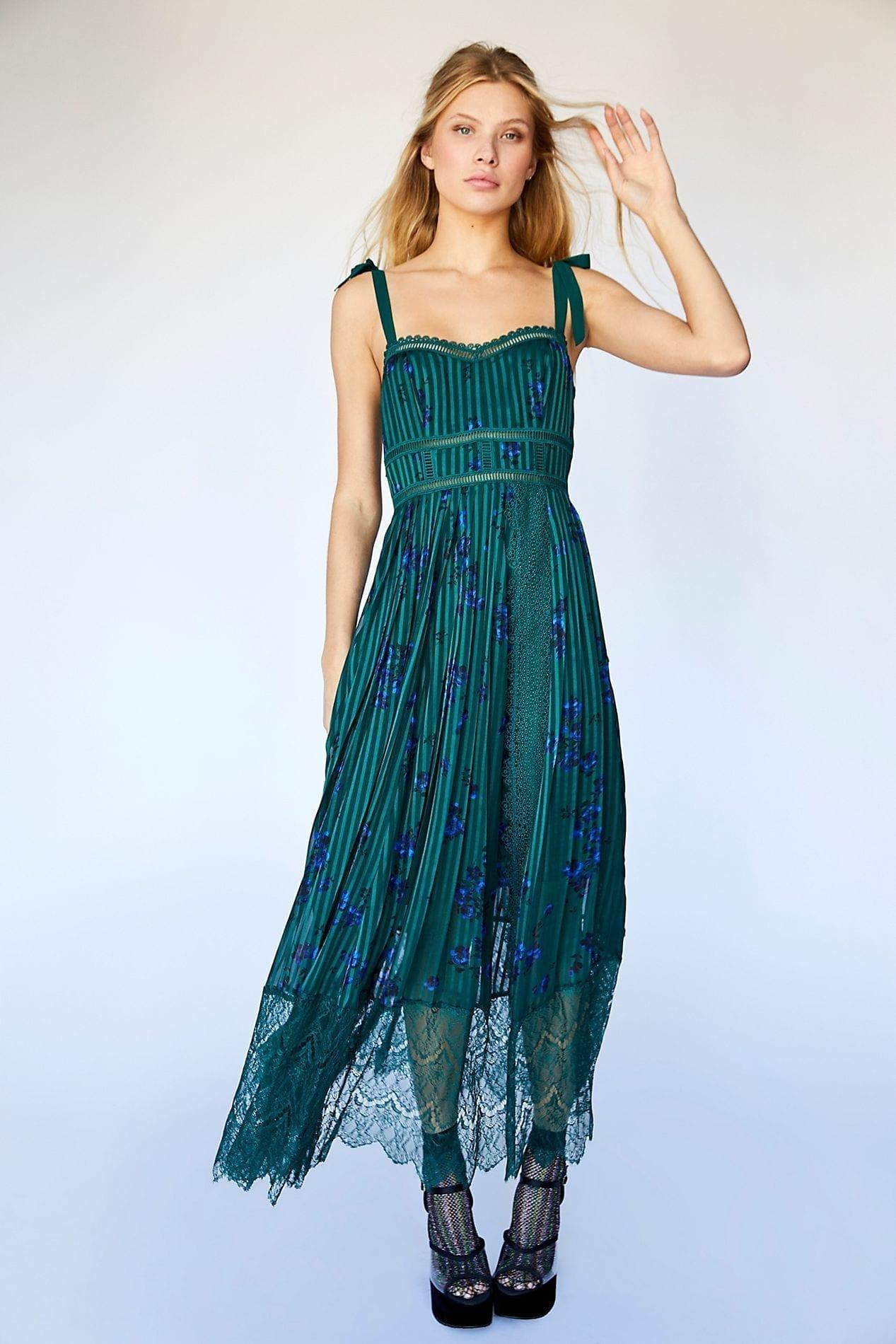 5a610b0957 FREEPEOPLE Seven Wonders Maxi Green Dress - We Select Dresses