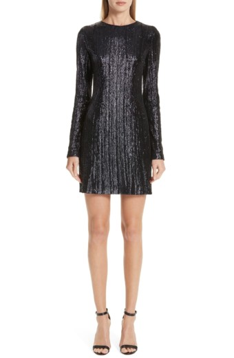 GALVAN Sequin Sheath Mini Midnight Dress