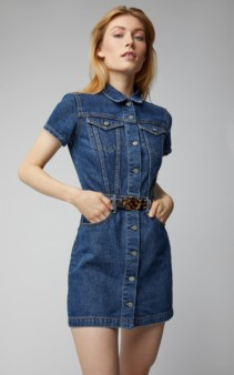 GRLFRND DENIM Max Denim Mini Blue Dress
