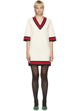 GUCCI Short Webbing Off-White Dress