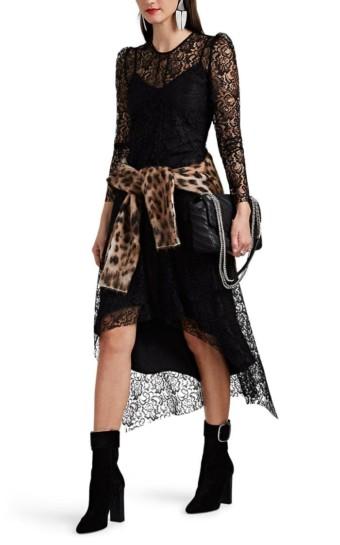 HIRAETH Estella Lace Midi Black Dress