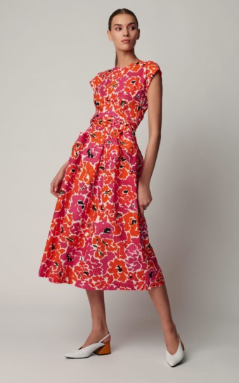 ISA ARFEN Cotton Midi Floral Printed Dress