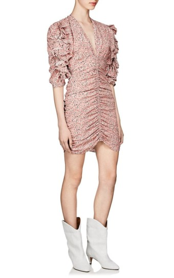 ISABEL MARANT Andor Stretch-Silk Crepe Fitted Pink Dress