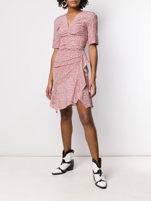 f146a3f0a92 ISABEL MARANT Arodie Print Pink Dress - We Select Dresses