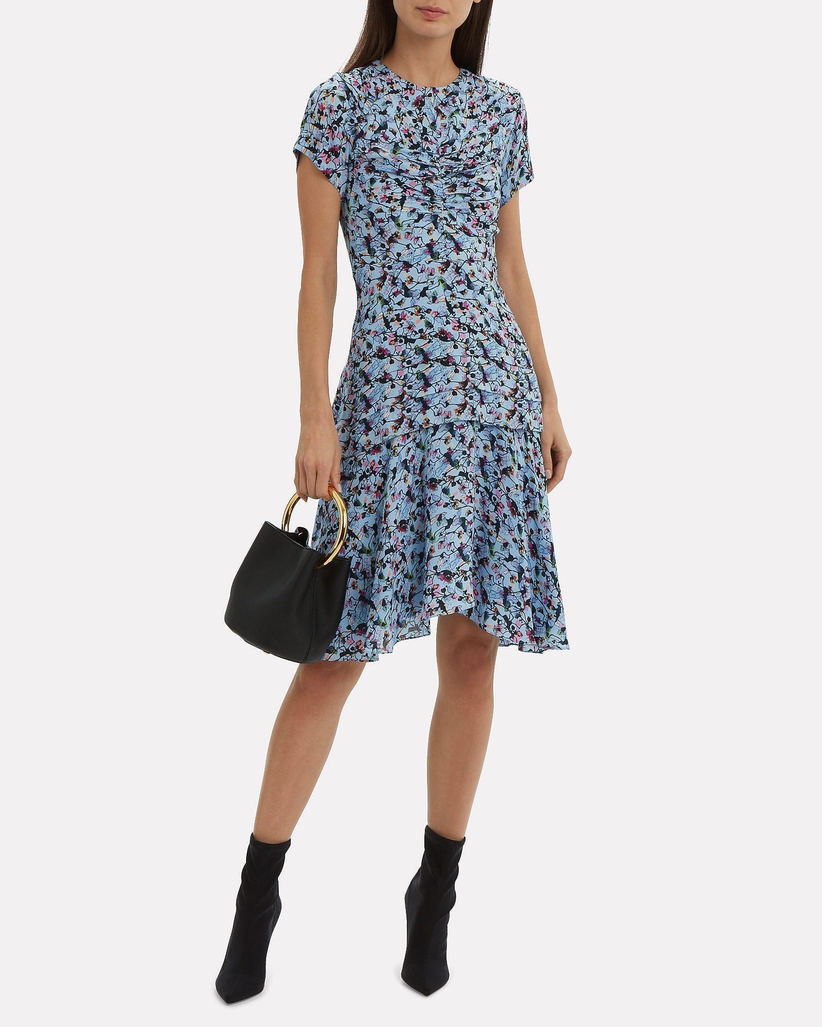 JASON WU Blue / Floral Printed Dress