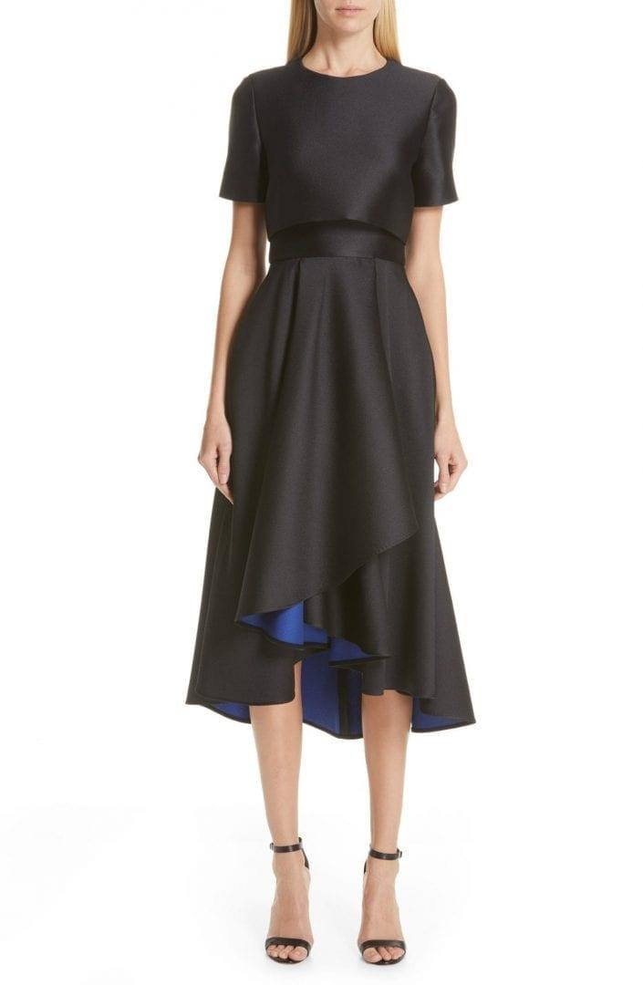 JASON WU COLLECTION Double Face Cocktail Black Dress