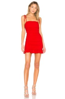 LOVERS + FRIENDS Amy Mini Cherry Dress