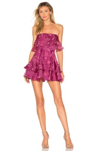 LOVERS + FRIENDS Bexley Mini Magenta Dress