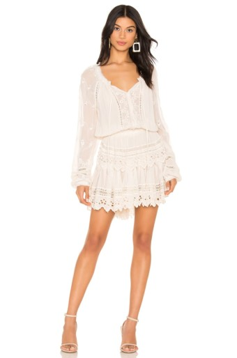 LOVESHACKFANCY Popover Cream Dress