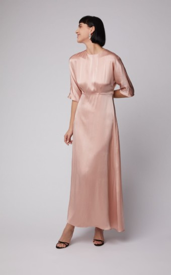 MANSUR GAVRIEL A-line Silk Maxi Pink Dress