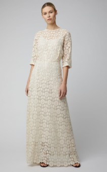 MANSUR GAVRIEL Guipure Lace Maxi White Dress