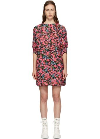 MARC JACOBS Crop Shoulder Multi / Floral Printed Dress