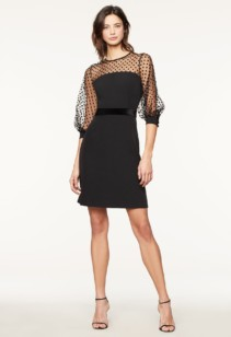 MILLY Italian Cady Milan Black Dress