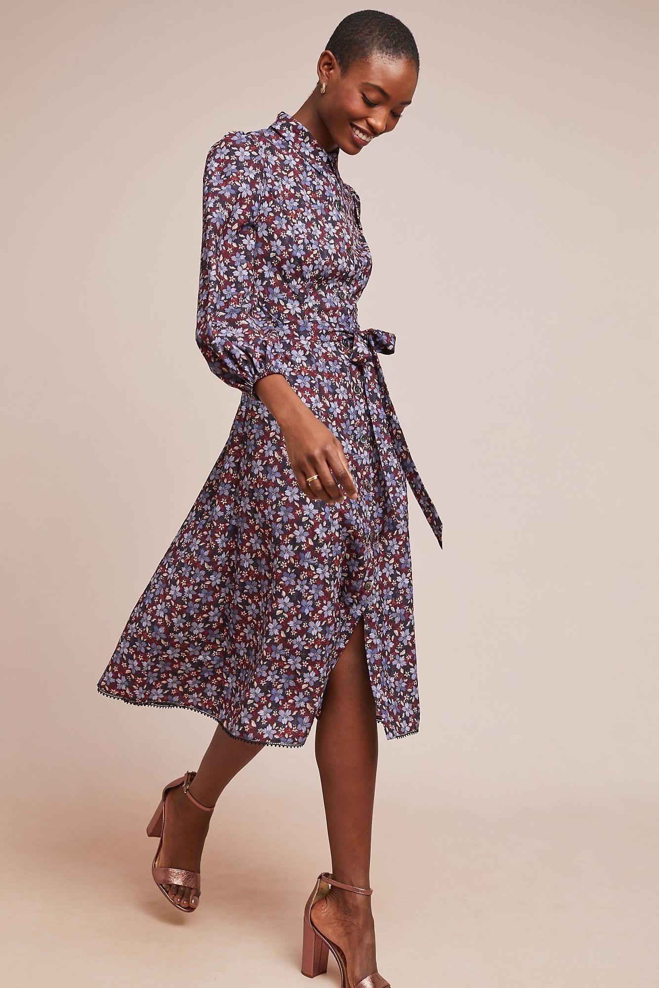 29c5210fb4e ML MONIQUE LHUILLIER Azaela Shirt Dress - We Select Dresses