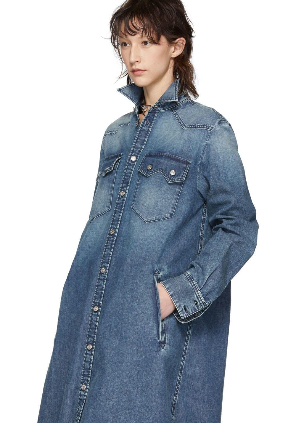 MM6 MAISON MARGIELA Button-Up Denim Blue Dress